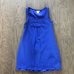 Esley Cobalt Blue Sheer Layer Dress - Small